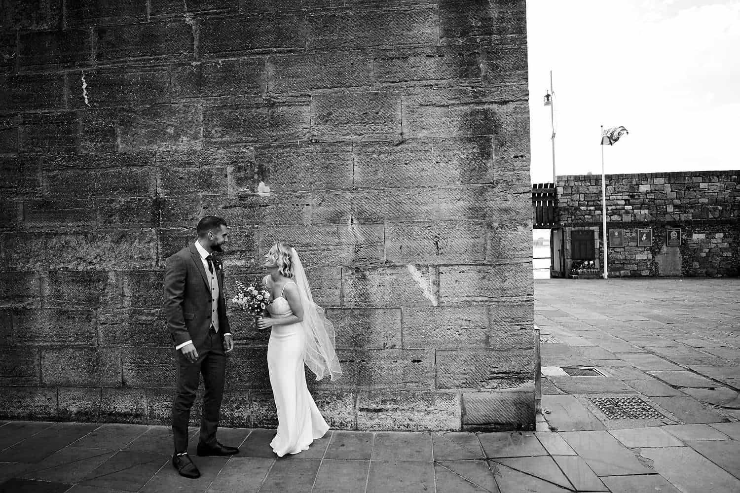 Just married at the Square Tower
