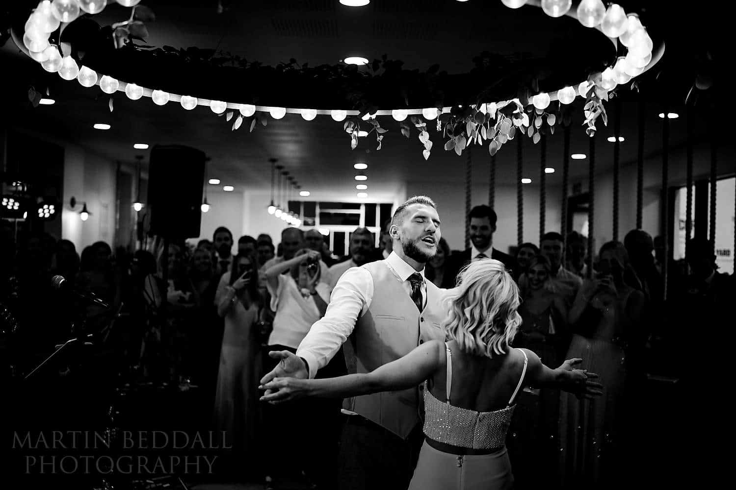 Bride and groom's first dance at Boathouse 4