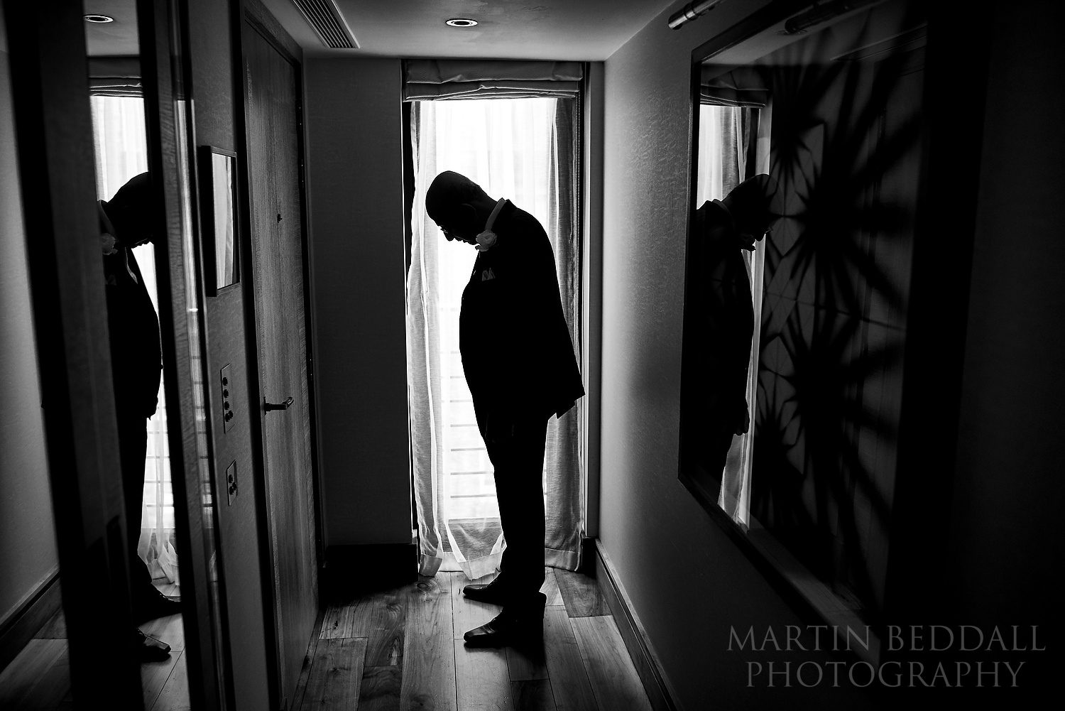 Waiting for the bride to get ready