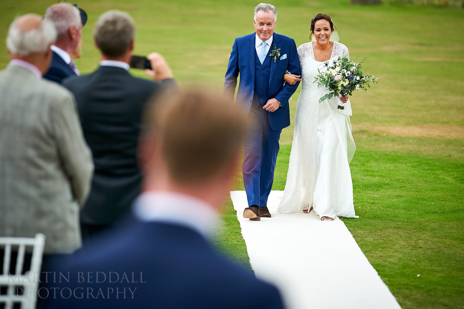 Buxted Park outdoor wedding ceremony