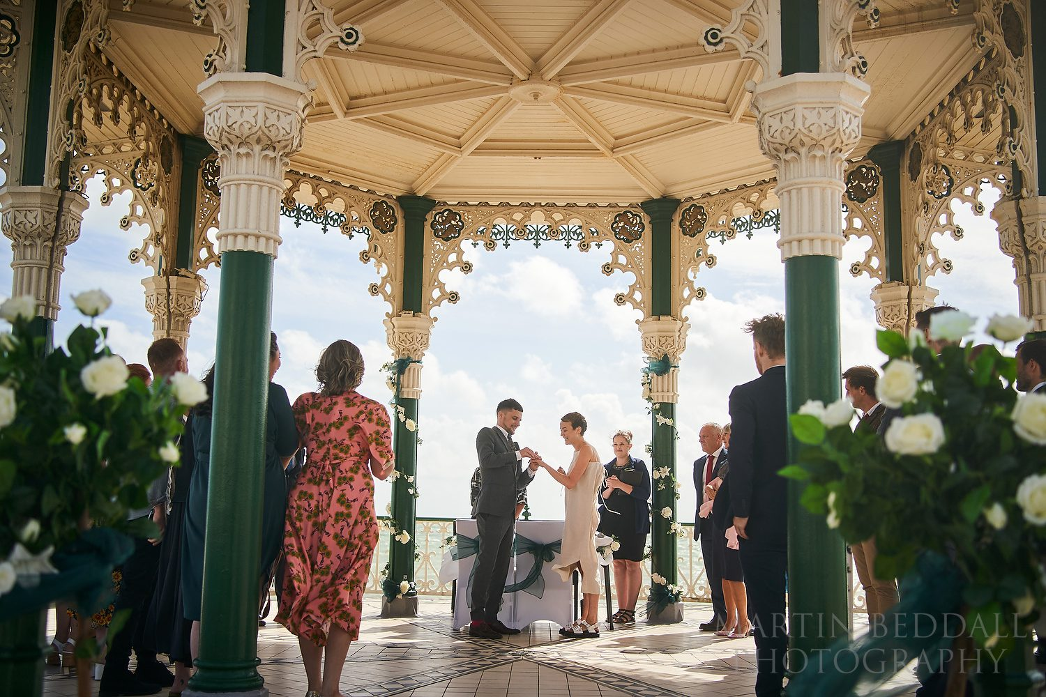 Wedding at the bandstand