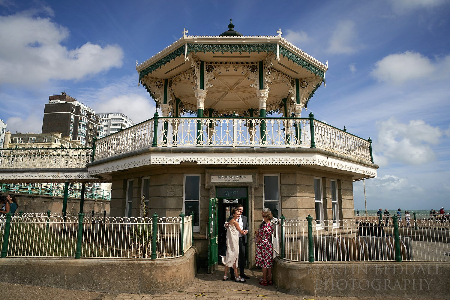 Wedding at the bandstand in Brighton