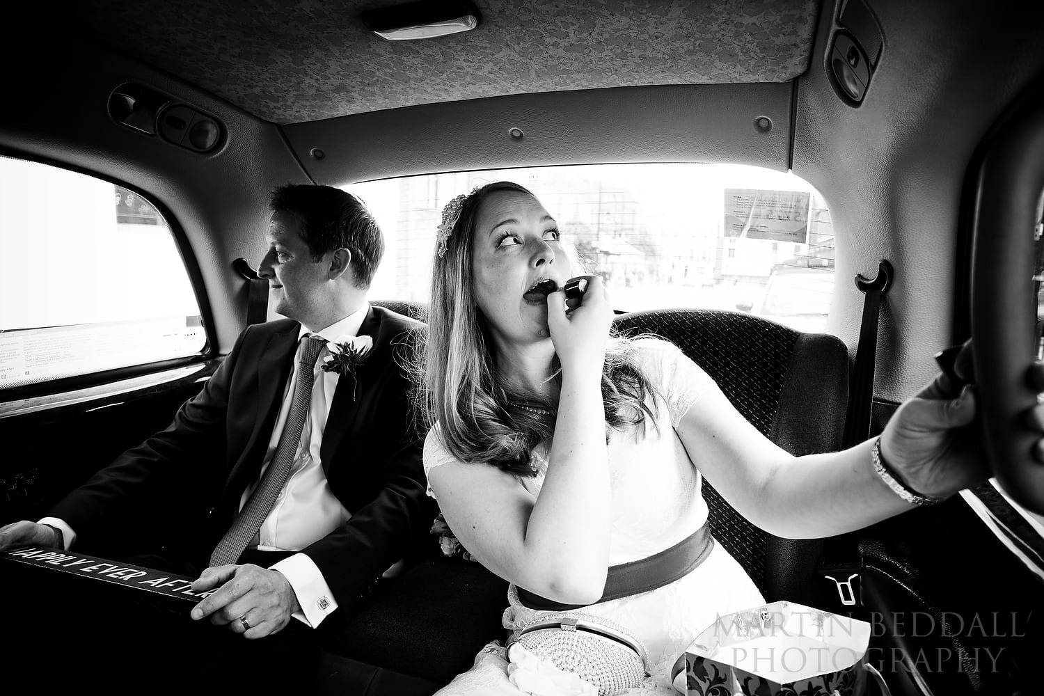 Lipstick in the taxi