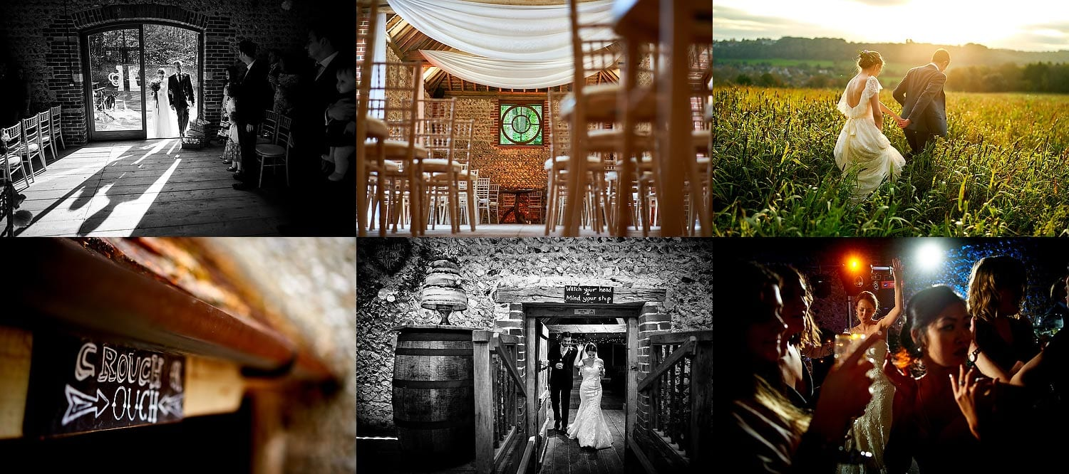 Cissbury Barns wedding photography