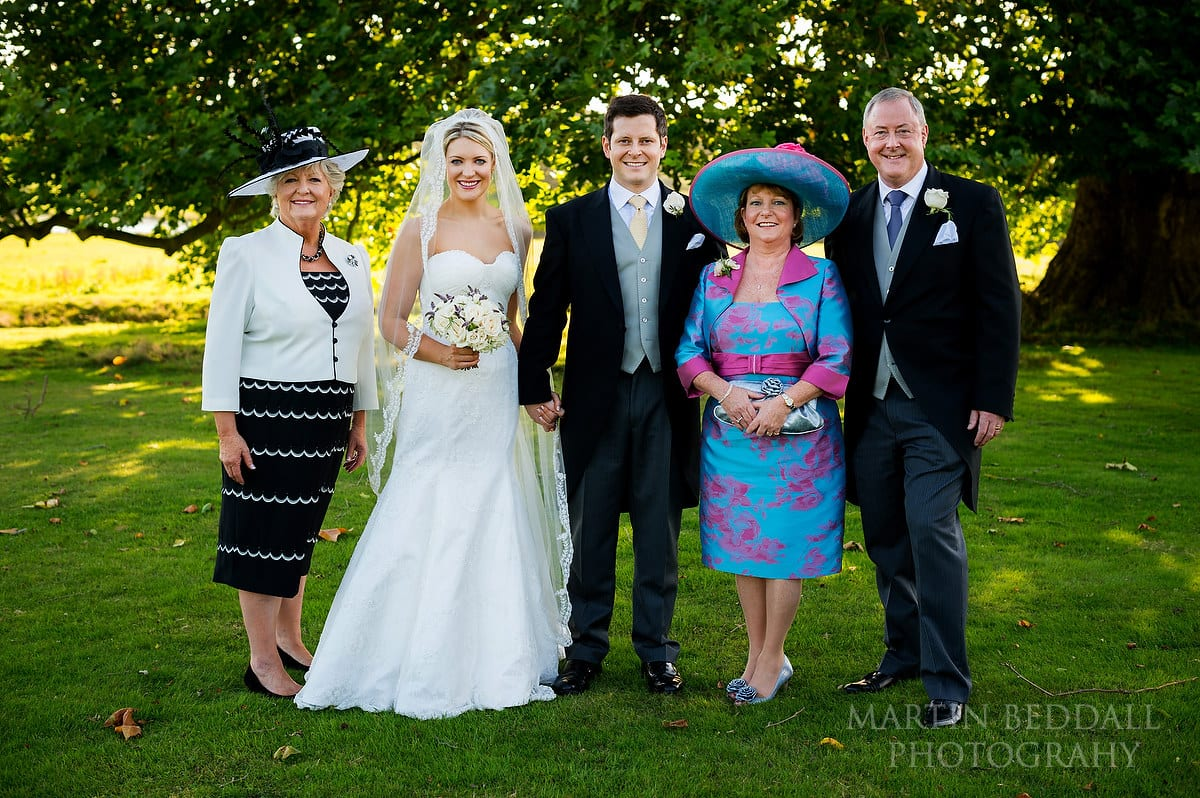group shot at Sussex wedding