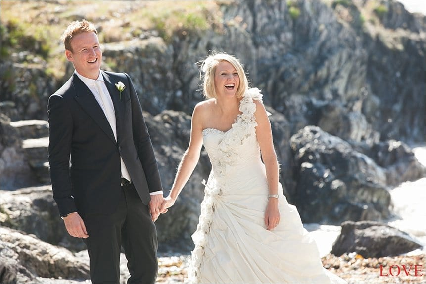 Kate and Howard's Wedding at Polhawn Fort Cornwall